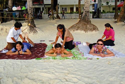 Boracay Island - The Philippines - Dec 2010 - Beach Massage | by Gareth1953 All Right Now