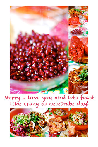 Merry I love you and lets feast like crazy to celebrate day! | by nettness