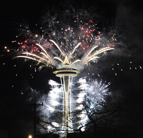 Happy New Year from Seattle's Space Needle, Washington, USA | by Wonderlane
