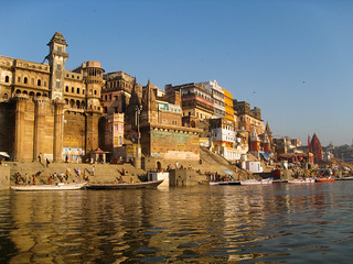 Varanasi - dawn on the riverside | by surrealpenguin