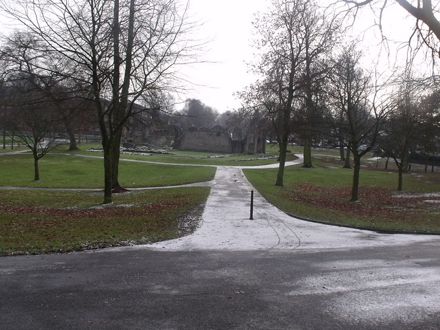 Priory Park, Dudley - Path to Priory Ruins