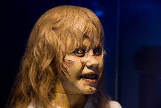 Head-spinning Linda Blair dummy from The Exorcist, Museum of the Moving Image | by gsz