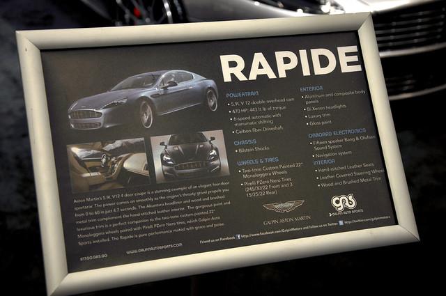 Aston Martin Rapide info