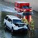 Vehicle into Flood Control Channel by LAFD