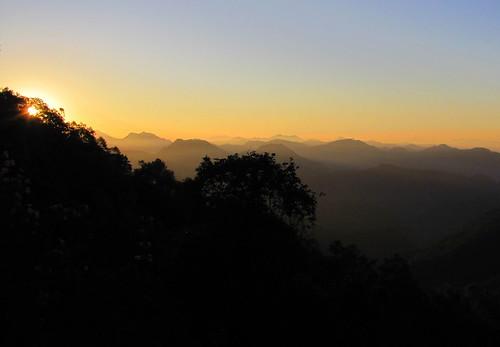 india dawn himalayas landour mussoorie uttarakhand landaur