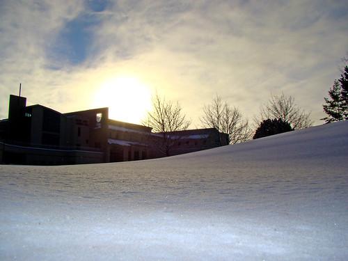 winter snow wisconsin university greenbay uwgb