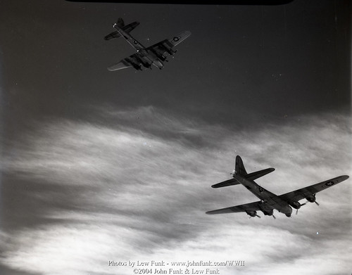 B-17's on Mission to Nuremberg Germany 21 Feb 1945 | by John Funk from Golden Colorado