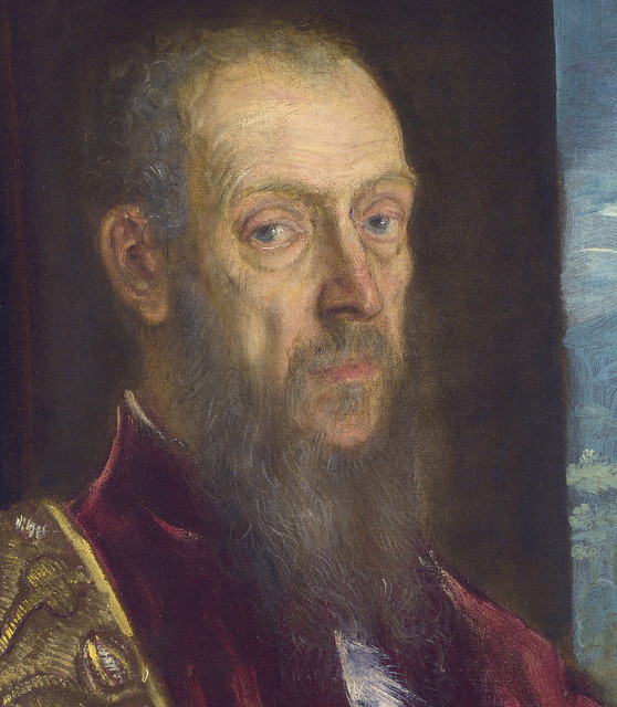 Tintoretto: Portrait of Vincenzo Morosini, detail (1575-80)