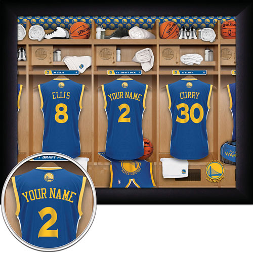 Golden state Warriors Locker Room Print | MVP Prints - By Pe