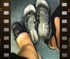 shoes under the desk