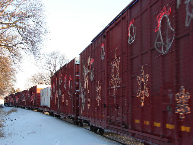 Holiday train in Camanche