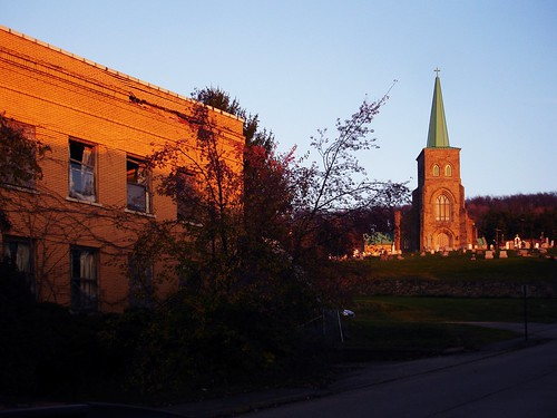 sunset abandoned church st hospital catholic roman pa peters brownsville