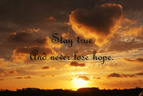 sunset staytrue heartshapedcloud neverlosehope wordoverlay