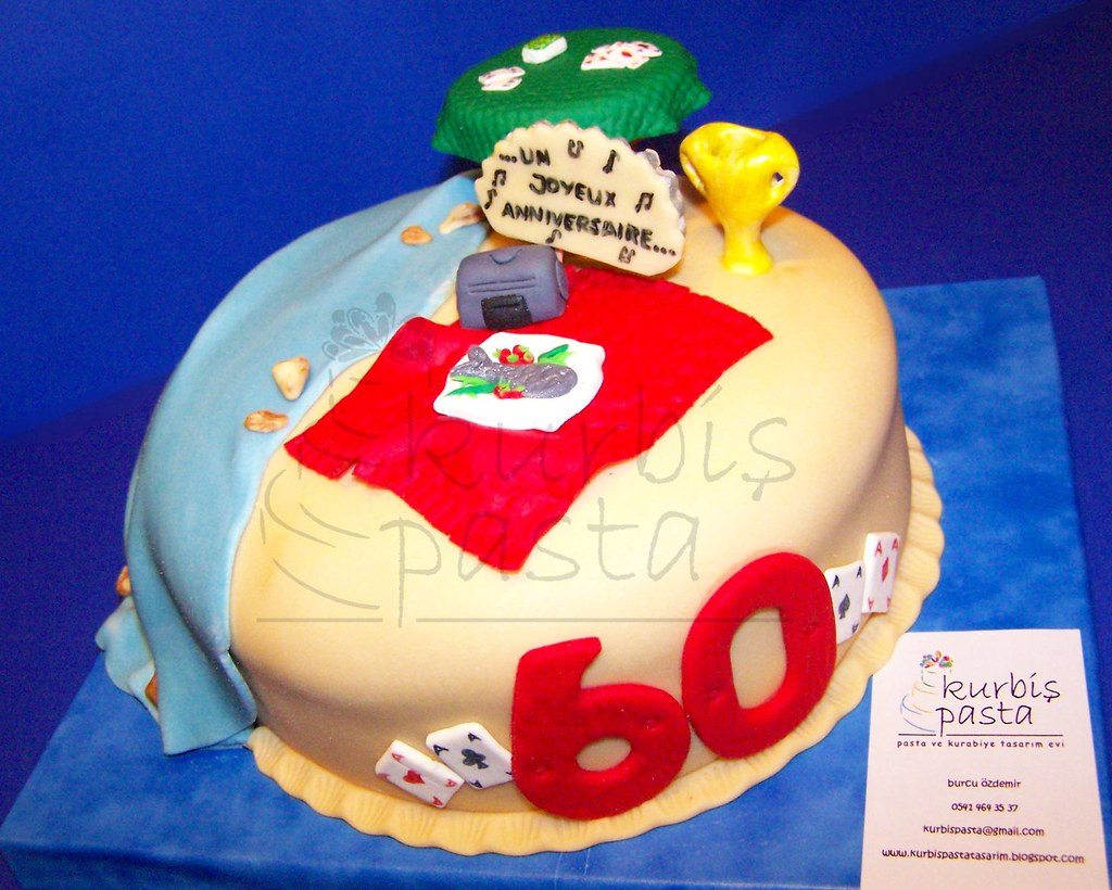 Awesome Dads 60Th Birthday Cake This Is A Cake That I Designed Fo Flickr Birthday Cards Printable Opercafe Filternl