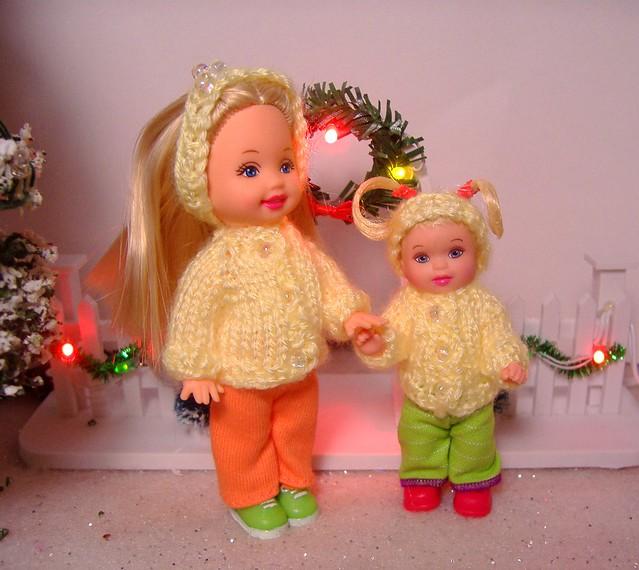 Kelly & Nikki in yellow sweaters #1