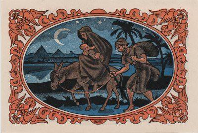 German Notgeld Kahla Christmas Jesus Mary Joseph