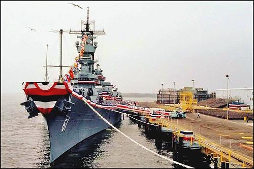 ussiowa bb61credited bb61 battleship usn usnavy warship pacificbattleshipcenter mooringline rope