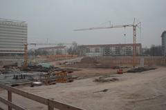 Baugrube der Centrum-Galerie in Dresden 2007-12-24