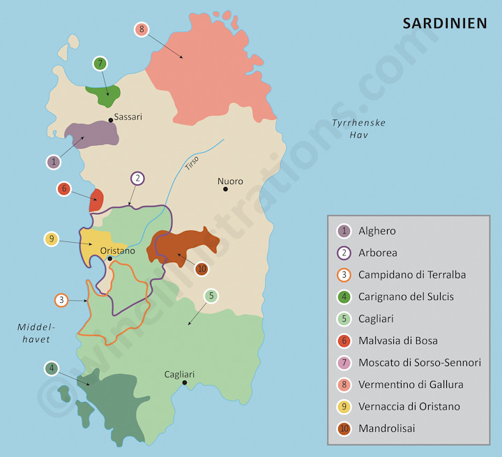 Sardinia Created For The Danish Wine Importer Vinens Verde