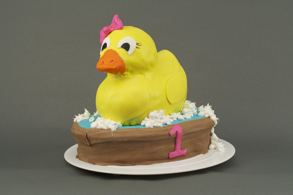 Marvelous Rubber Ducky 1St Birthday Cake Duck Is Completely French V Flickr Funny Birthday Cards Online Inifofree Goldxyz