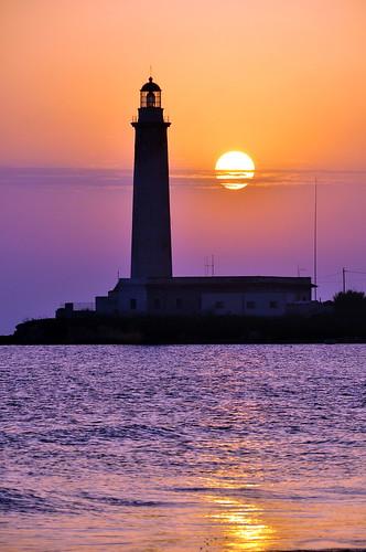 sunset summer lighthouse faro tramonto foto estate mywinners kartibubbo granitola