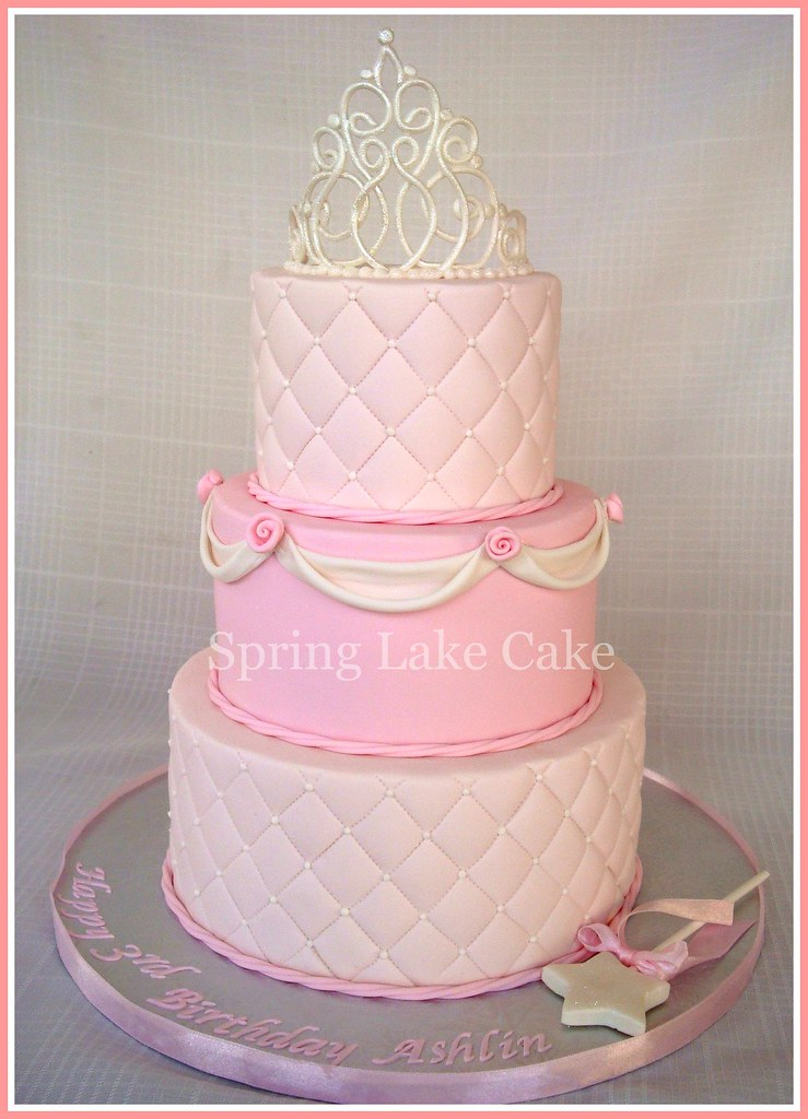 Remarkable Princess Birthday Cake Princess Cake For A 3 Year Old Girl Flickr Personalised Birthday Cards Veneteletsinfo