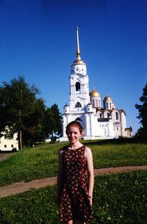 Quinn and the church | by quinn.anya