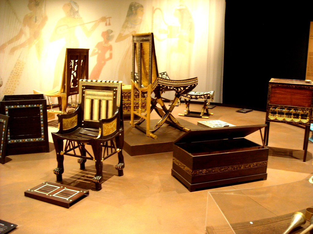 Ancient Egyptian Furniture From Tutankhamun S Children Yea Flickr