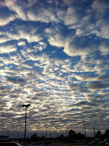 blue sunset clouds sunrise