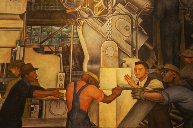 Diego Rivera mural at the Detroit Institute of Arts
