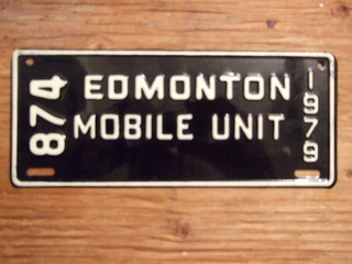 EDMONTON, ALBERTA 1979 ---MOBILE UNIT PLATE #874