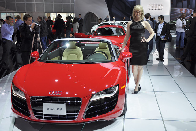 Audi booth babe