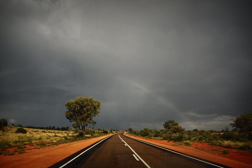 .on the way to Alice Springs