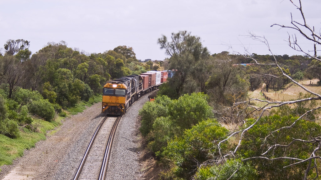 Downgrade towards Moorabool Viaduct by michaelgreenhill