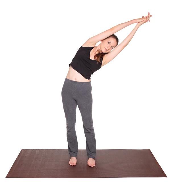 yoga poses - Crescent Moon Pose position (ardha chandrasana)