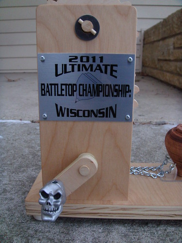 Trophy for the 2011 Ultimate Battletop Championship: Wisconsin | by themarkhayward