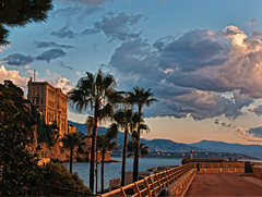 Dawn at the Breakwater at Fontvieille - Monaco