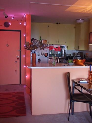 Colorful Kitchen | Startling color scheme gives Wazir's ...
