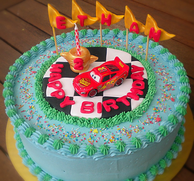 Fantastic Lighting Mcqueen Birthday Cake Chocolate Chiffon Filled An Flickr Funny Birthday Cards Online Overcheapnameinfo