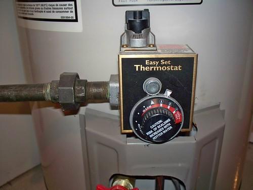 water heater settings