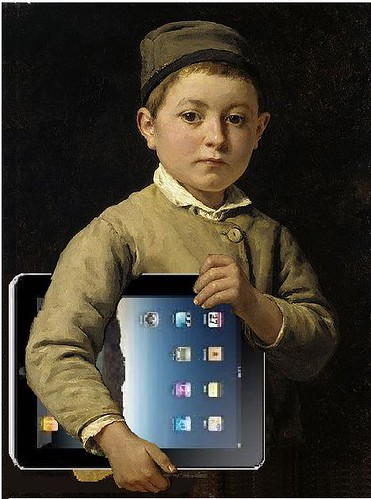 Schulknabe mit iPad, after Albert Anker | by Mike Licht, NotionsCapital.com