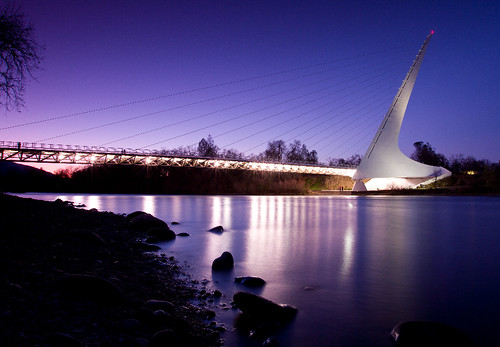 city longexposure bridge light sunset sky art water architecture night canon river landscape lights scenic wideangle calif citylights 7d bluehour redding nite starburst citylight northerncalif top20longexposure the4elements tripodleg architecturual elementsorganizer