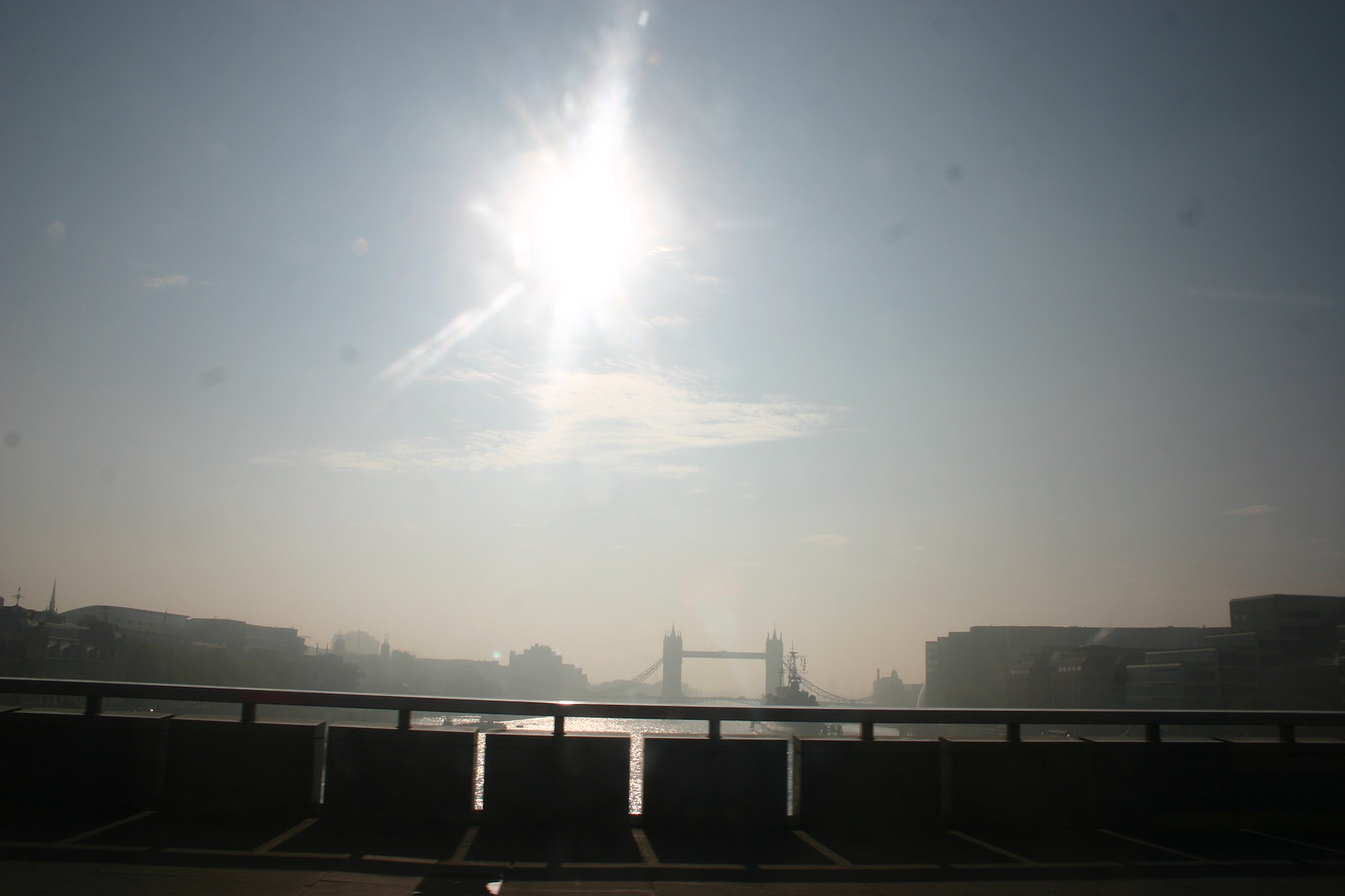 Sunshiney Smoggy Morning 8.30 am Good Friday, London Bridge View