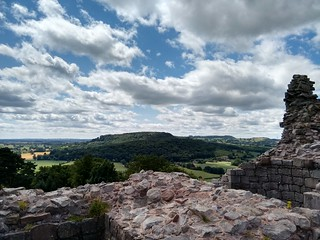 View from the battlements, Beeston Castle   by Steve_Mc