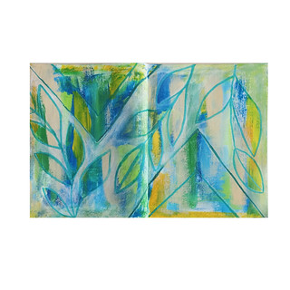 Brave Intuitive Painting sketchbook page | by Tamara Hala