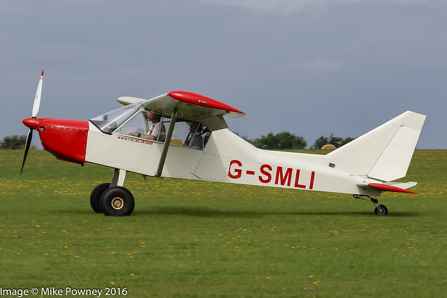 G-SMLI - 2013 build Nando Groppo Trail, arriving at Sywell during the 2016 LAA Rally
