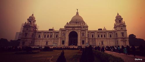 kolkata india sunset victoriamemorial