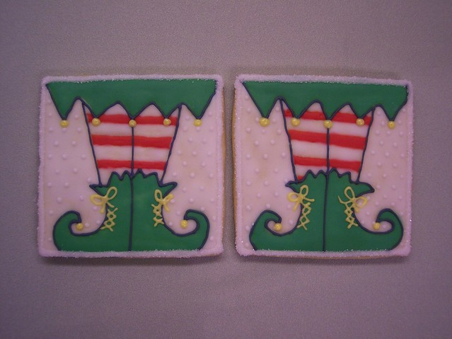 Christmas elf stockings & shoes