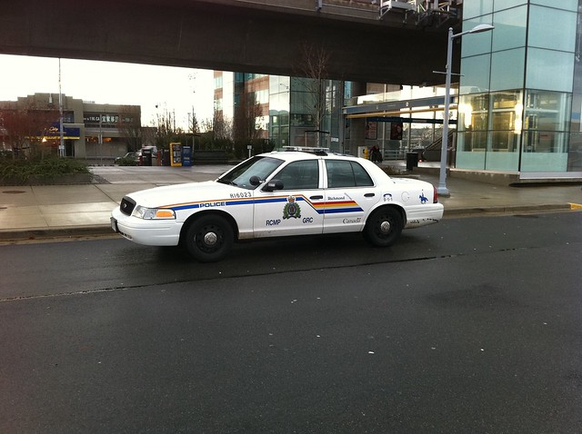 RCMP car at Lansdowne Station