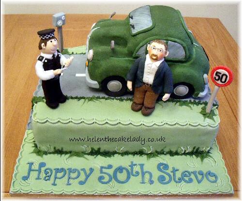 Surprising Morris Minor Car Mens Speeding Cake I Was Asked To Desi Flickr Personalised Birthday Cards Veneteletsinfo